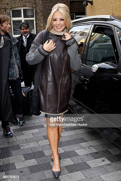 Carol Vorderman seen arriving at the Ham Yard Hotel on March 10 2015 in London England