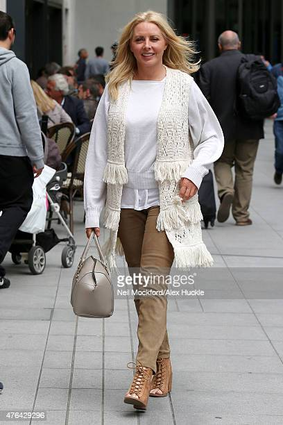 Carol Vorderman seen at the BBC Studios on June 9 2015 in London England