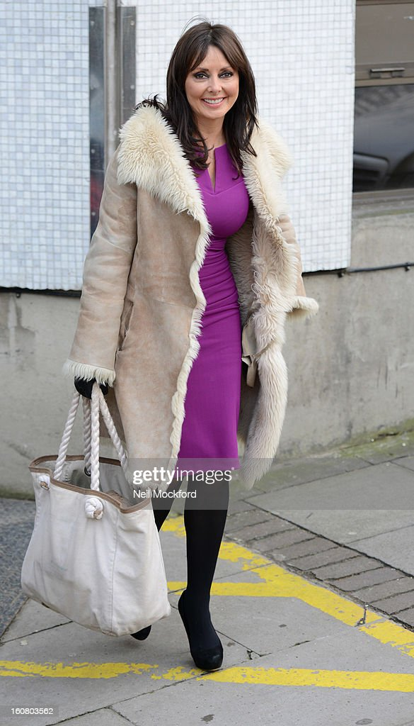 Carol Vorderman seen at the ITV Studios on February 6, 2013 in London, England.
