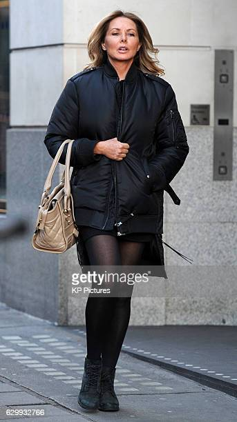 Carol Vorderman seen leaving a West End hair salon on December 14 2016 in London England