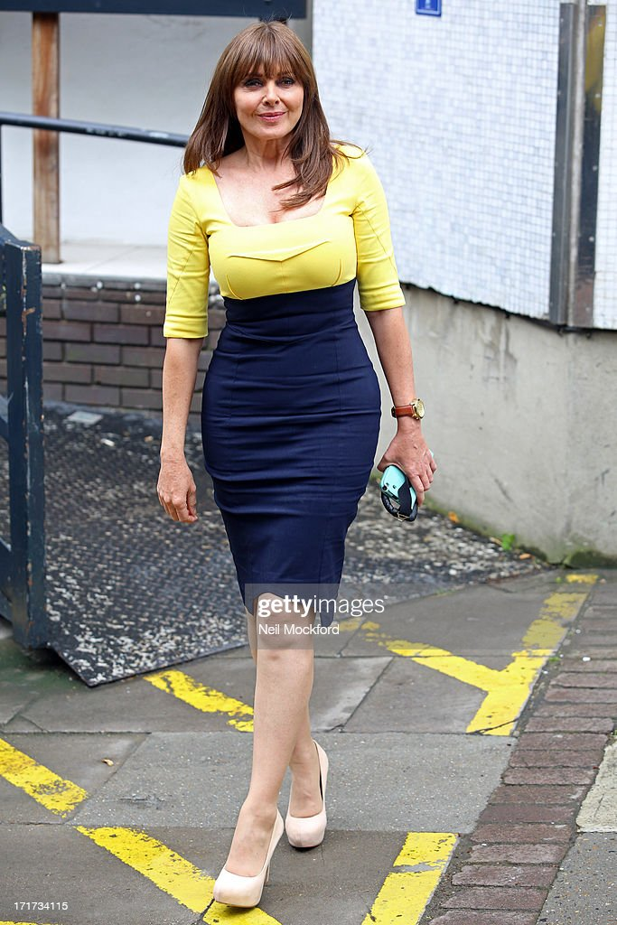 Carol Vorderman seen leaving the ITV Studios after the last 'Loose Women' of the year show on June 28, 2013 in London, England.