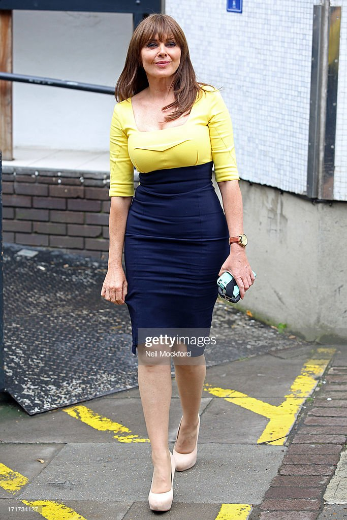<a gi-track='captionPersonalityLinkClicked' href=/galleries/search?phrase=Carol+Vorderman&family=editorial&specificpeople=209224 ng-click='$event.stopPropagation()'>Carol Vorderman</a> seen leaving the ITV Studios after the last 'Loose Women' of the year show on June 28, 2013 in London, England.