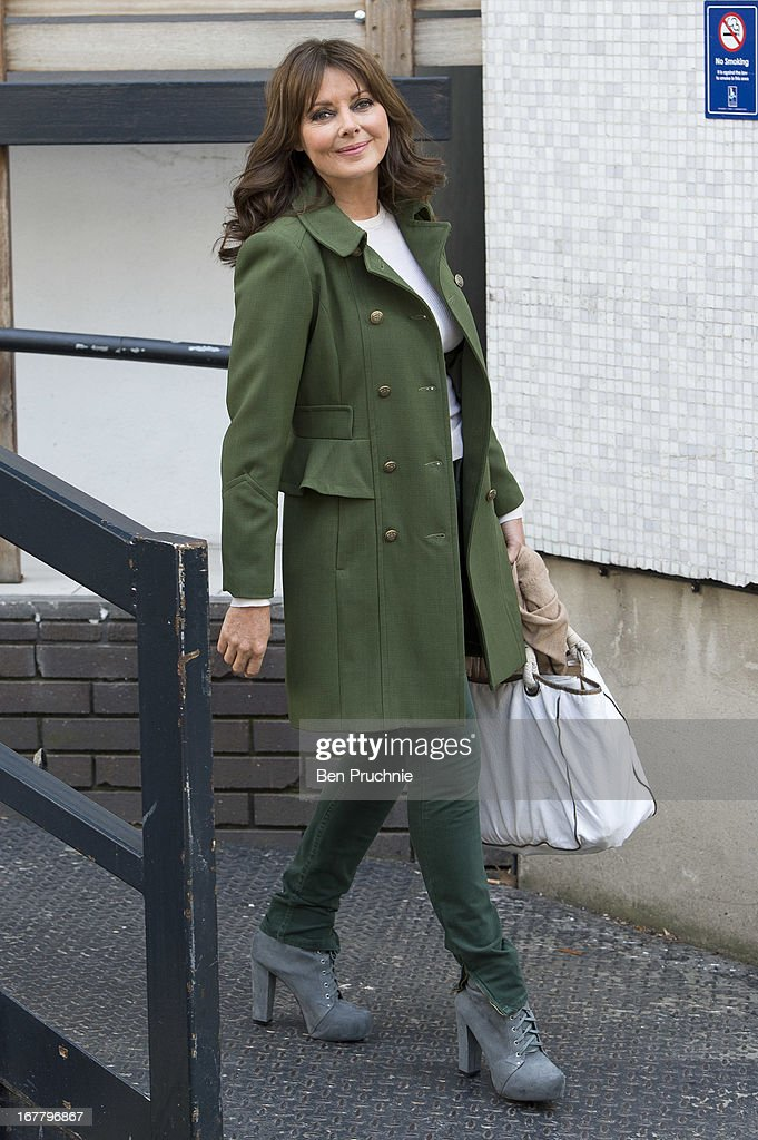 Carol Vorderman sighted departing ITV Studios on April 30, 2013 in London, England.
