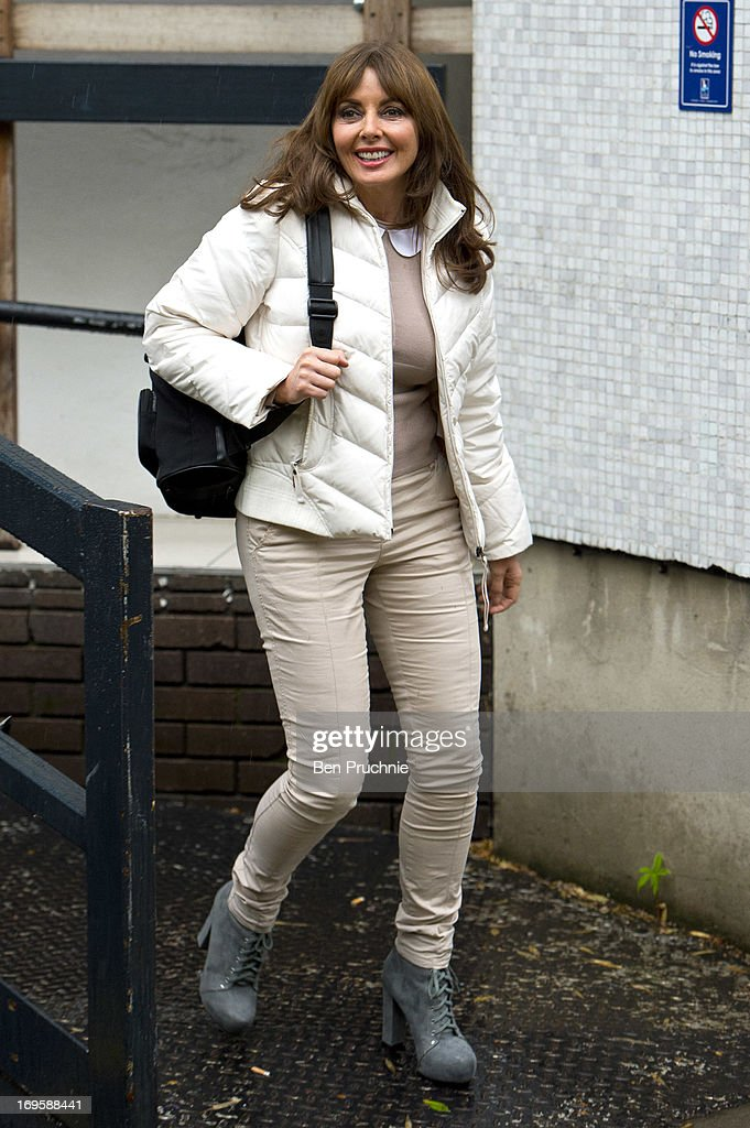 Carol Vorderman sighted departing ITV Studios on May 28, 2013 in London, England.