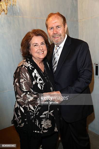 Carol Williams and her husband Daniel Lewis Williams parents of Judith Williams during the traditional Buehnendinner 2016 at Bayerische Staatsoper on...