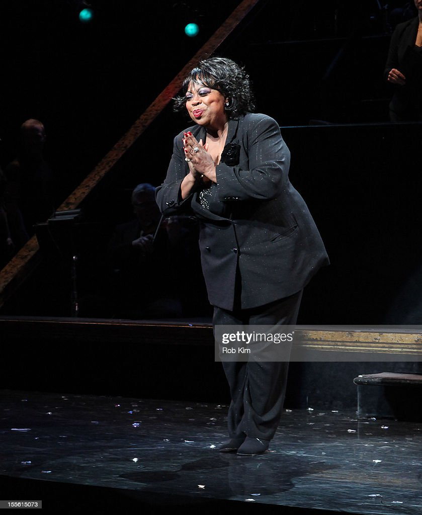Carol Woods attends opening night curtain call for Billy Ray Cyrus' Broadway stage debut as Billy Flynn in 'Chicago' at the Ambassador Theatre on November 5, 2012 in New York City.