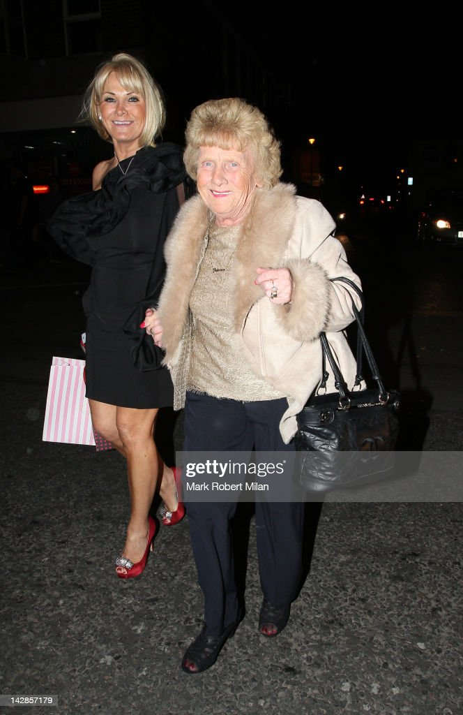 Carol Wright and Nanny Pat attend Harry Derbidge's 18th birthday party at Sugar Hut on April 13, 2012 in London, England.