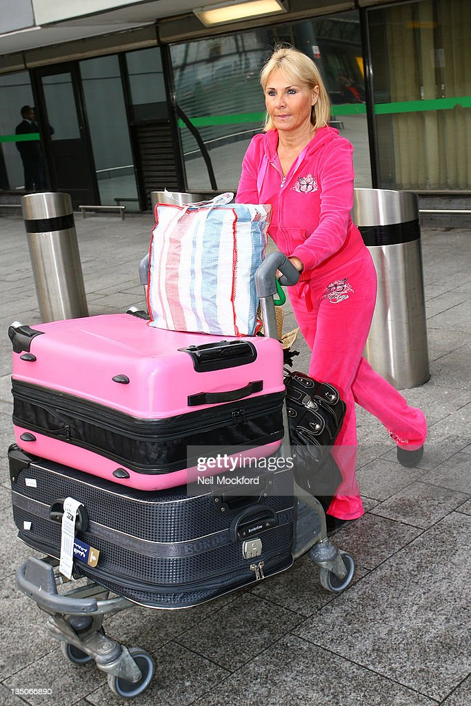 Carol Wright returns from Australia and the TV show 'I'm a Celebrity Get Me Out of Here' at Heathrow Airport on December 6 2011 in London England