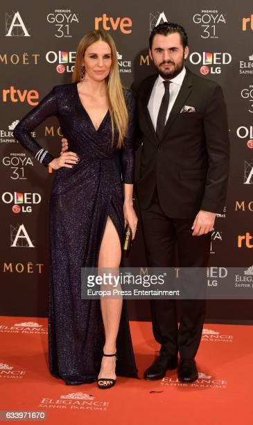 Carola Baleztana and Emiliano Suarez attend Goya Cinema Awards 2017 at Madrid Marriott Auditorium on February 4 2017 in Madrid Spain