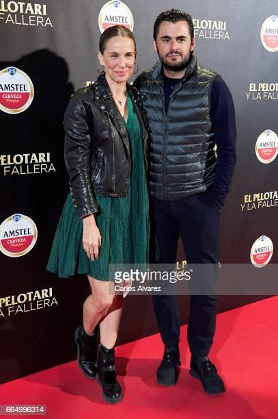 Carola Baleztena and Emiliano Suarez attend 'El Pelotari Y La Fallera' premiere at the Callao cinema on April 5 2017 in Madrid Spain