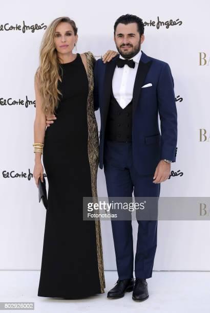 Carola Baleztena and Emiliano Suarez attend Harper's Bazaar 150th anniversary party at Casa de Velazquez on June 28 2017 in Madrid Spain