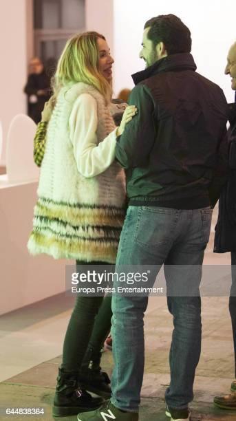 Carola Baleztena and Emiliano Suarez attend the International Contemporary Art Fair ARCO 2017 at Ifema on February 23 2017 in Madrid Spain