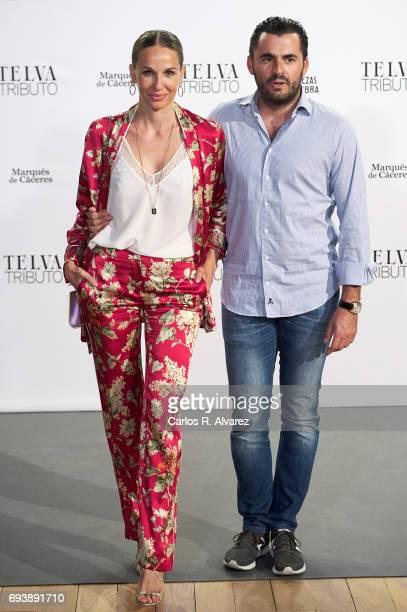 Carola Baleztena and Emiliano Suarez attend the Paco Rabanne exhibition at the Real Academia de Bellas Artes de San Fernando on June 8 2017 in Madrid...