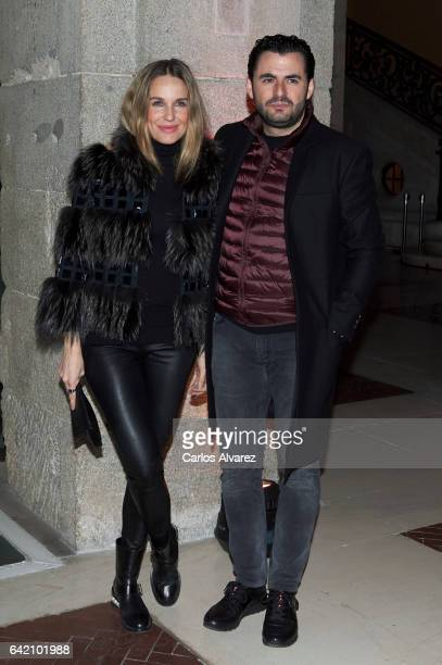 Carola Baleztena and Emiliano Suarez attend the Roberto Verino show during the MercedesBenz Madrid Fashion Week Autumn/Winter 2017/2018 at Correos...