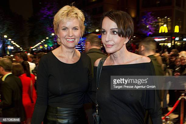 Carola Ferstl and Anouschka Renzi attend the Adagio ReOpening on October 11 2014 in Berlin Germany