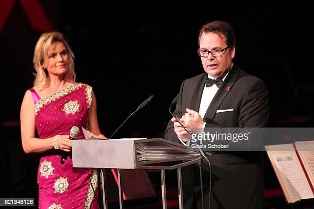 Carola Ferstl and Dr Dietmar Voggenreiter AUDI AG during the 23rd Opera Gala at Deutsche Oper Berlin on November 5 2016 in Berlin Germany