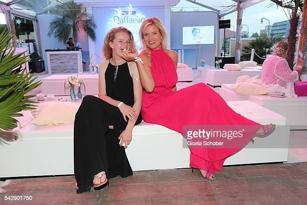 Carola Ferstl and her daughter Julia Ferstl during the Raffaello Summer Day 2016 to celebrate the 26th anniversary of Raffaello on June 24 2016 in...
