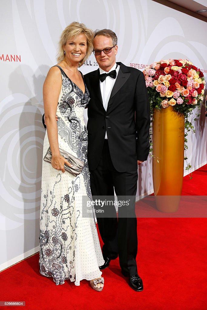 Carola Ferstl and her husband Anton Voglmaier attend the Rosenball 2016 on April 30, 2016 in Berlin, Germany.