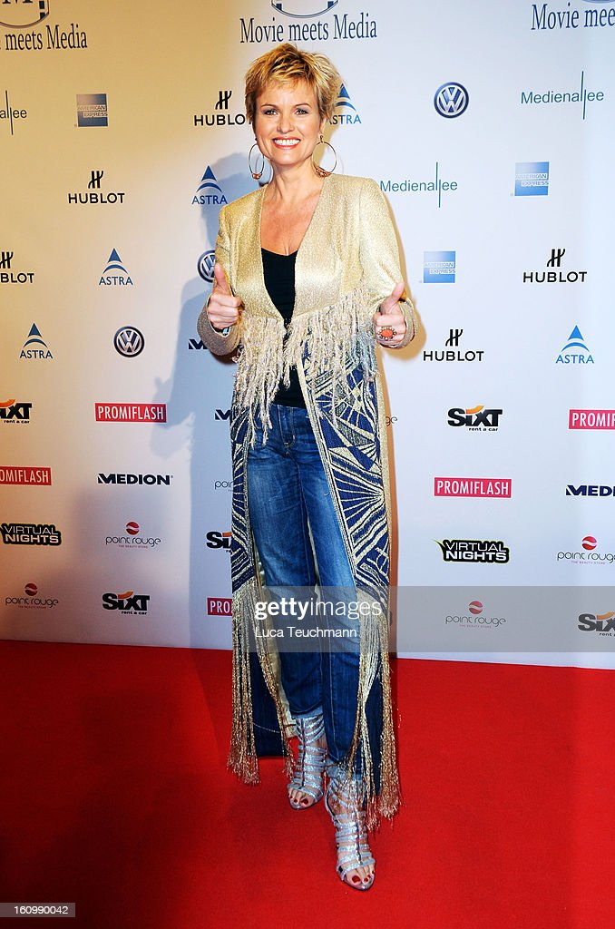 Carola Ferstl attends the Movie Meets Media Gala during the 63rd Berlinale International Film Festival at the Ritz Carlton Hotel on February 8, 2013 in Berlin, Germany.