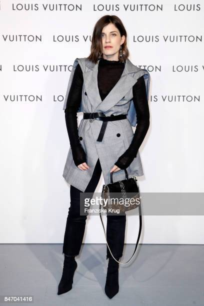 Carola Pojer wearing Louis Vuitton attends the 'Louis Vuitton Time Capsule' Exhibition Opening at Franzoesisches Palais on September 14 2017 in...