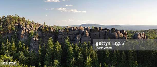 Carola Rocks in the Elbe Sandstone Mountains, Saxony, Germany, Europe