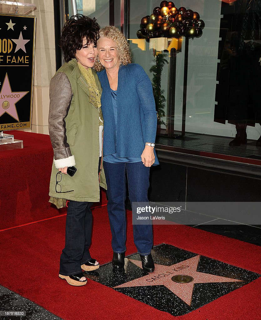 Carole Bayer Sager and Carole King attend King's induction into the Hollywood Walk of Fame December 3, 2012 in Hollywood, California.