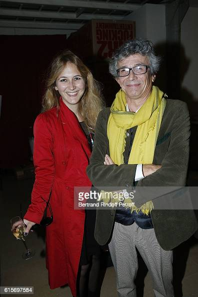 Carole Blumenfeld and Director of 'Musee des BeauxArts d'Ajaccio' Philippe Costamagna attend the Contemporary Artist Mike Bouchet Exhibition Opening...