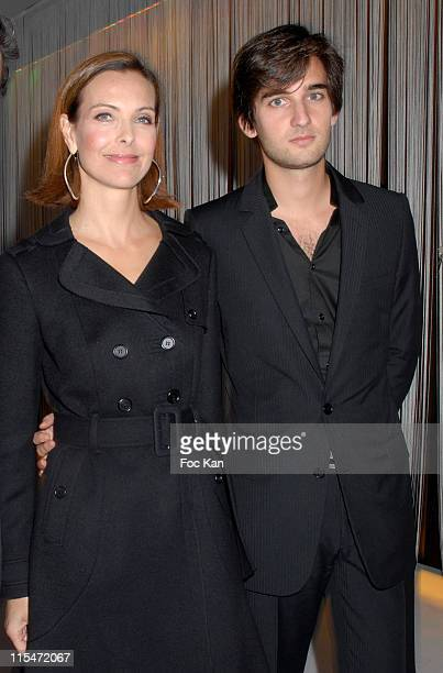 Carole Bouquet and son Dimitri during Le Bal Jaune 2006 Hosted by Ricard and Beaux Arts Magazine at Centre Pompidou in Paris France