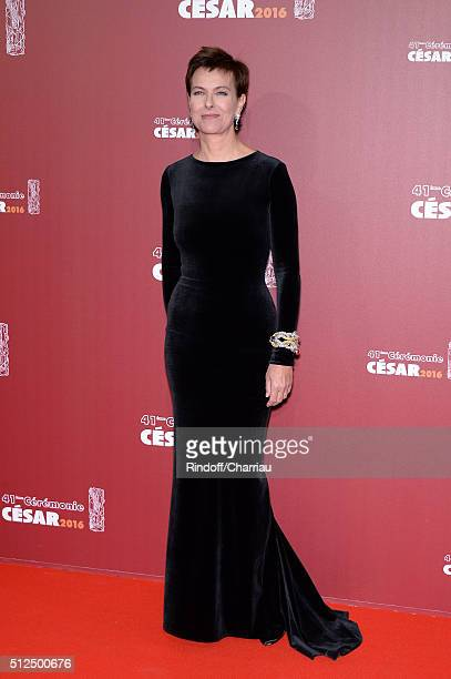 Carole Bouquet arrives at The Cesar Film Awards 2016 at Theatre du Chatelet on February 26 2016 in Paris France