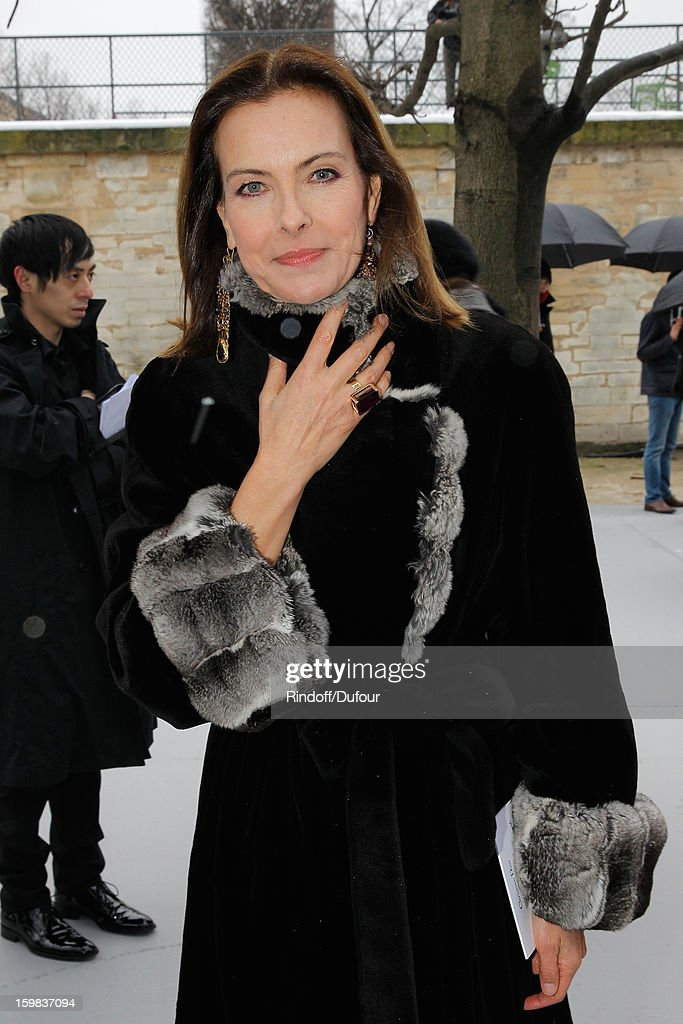 <a gi-track='captionPersonalityLinkClicked' href=/galleries/search?phrase=Carole+Bouquet&family=editorial&specificpeople=208685 ng-click='$event.stopPropagation()'>Carole Bouquet</a> arrives to attend the Christian Dior Spring/Summer 2013 Haute-Couture show as part of Paris Fashion Week at on January 21, 2013 in Paris, France.