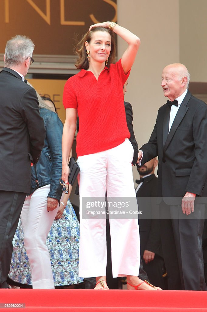 Carole Bouquet at the red carpet for the Palme D'Or winners during 67th Cannes Film Festival