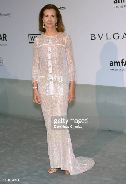 Carole Bouquet attends amfAR's 21st Cinema Against AIDS Gala Presented By WORLDVIEW BOLD FILMS And BVLGARI at Hotel du CapEdenRoc on May 22 2014 in...