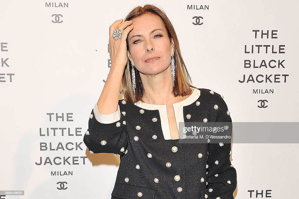 Carole Bouquet attends Chanel The Little Black Jacket - Karl Lagerfeld Photography Exhibition Dinner Party on April 4, 2013 in Milan, Italy.