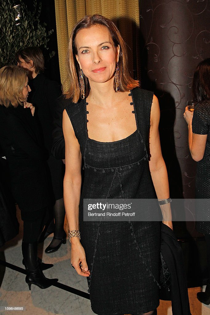 Carole Bouquet attends 'La Petite Maison De Nicole' Inauguration Cocktail at Hotel Fouquet's Barriere on January 21, 2013 in Paris, France.