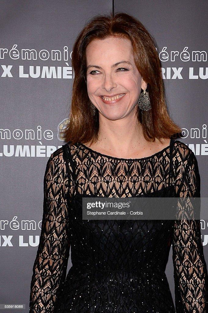 Carole Bouquet attends 'Les Prix Lumieres 2014' Cinema Awards, in Paris.