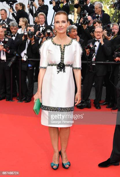 Carole Bouquet attends the 70th Anniversary screening during the 70th annual Cannes Film Festival at Palais des Festivals on May 23 2017 in Cannes...