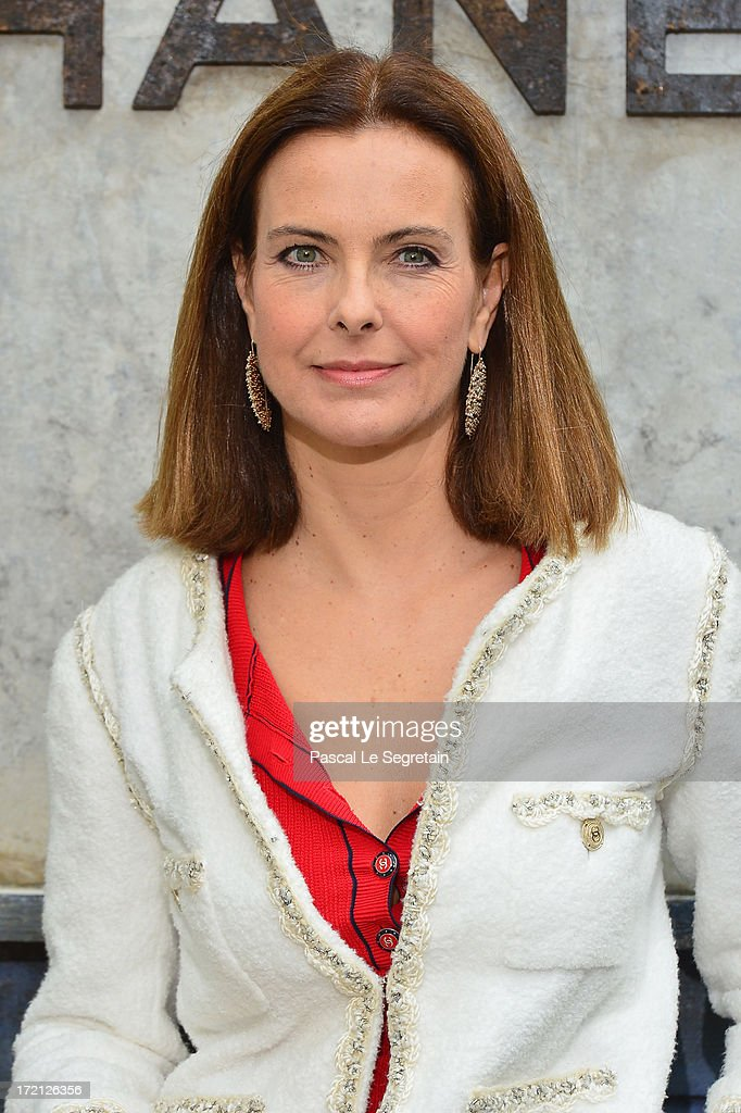 Carole Bouquet attends the Chanel show as part of Paris Fashion Week Haute-Couture Fall/Winter 2013-2014 at Grand Palais on July 2, 2013 in Paris, France.