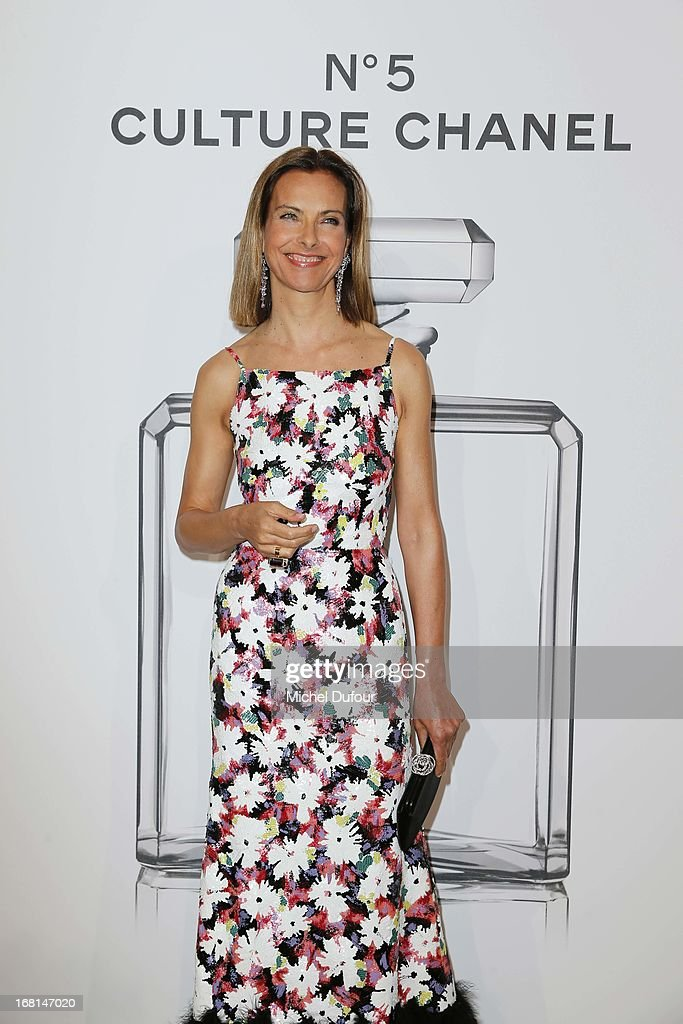 Carole Bouquet attends the 'No5 Culture Chanel' Exhibition - Photocall at Palais De Tokyo on May 3, 2013 in Paris, France.