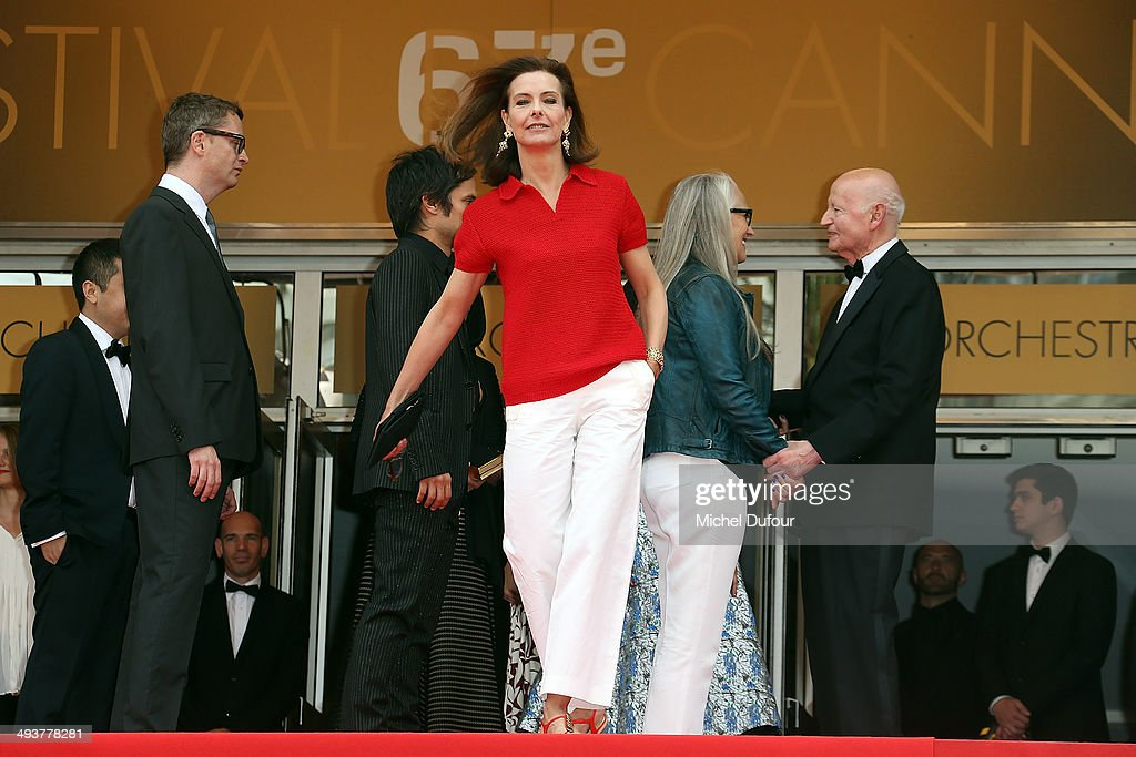 Carole Bouquet attends the red carpet for the Palme D'Or winners at the 67th Annual Cannes Film Festival on May 25, 2014 in Cannes, France.