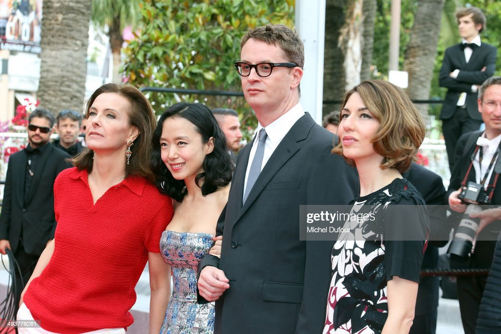 Carole Bouquet, Do-yeon Jeon, Nicolas Winding Refn and Sofia Copolla attend the red carpet for the Palme D'Or winners at the 67th Annual Cannes Film Festival on May 25, 2014 in Cannes, France.
