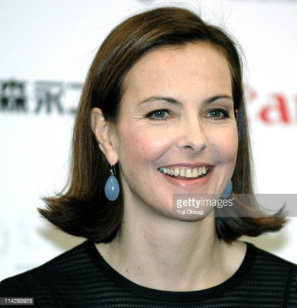 Carole Bouquet during French Film Festival 2006 in Japan Press Conference at Roppongi Academy Hills in Tokyo Japan
