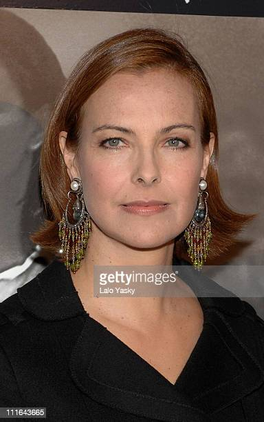 Carole Bouquet during 'Nordeste' Madrid Premiere at Palacio de la Musica Cinema in Madrid Spain