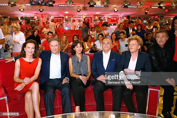 Carole Bouquet Michel Drucker main guest of the the show Sophie Marceau Jean Nainchrik Alex Lutz and Bruno Wolkowitch attend the 'Vivement Dimanche'...