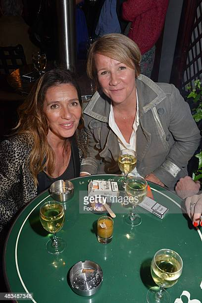 Carole Chretiennot and Ariane Massenet attend La Closerie Des Lilas Literary Awards 2014 7th at La Closerie Des Lilas on April 8 2014 in Paris France