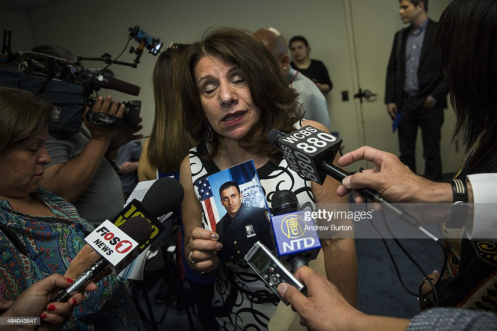Carole Christiansen, mother of Eric Christiansen, a New York police officer who died of a heroin overdose, speaks at a press conference about a new community prevention program for heroin overdoses in which New York City police officers will carry kits with Naloxone, an heroin antidote that can reverse the effects of an opioid overdose, on May 27, 2014 in New York City. The New York Police Department is being provided 19,500 kits for officers; the program will begin after officers receive training. The Naloxone is administered nasally.