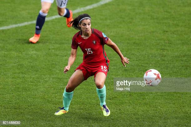 Carole Costa of Portugal controls the ball during the UEFA Women's Euro 2017 Group D match between Scotland v Portugal at Sparta Stadion on July 23...