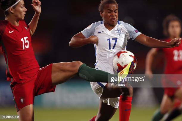 Carole Costa of Portugal women Nikita Parris of England women during the UEFA WEURO 2017 Group D group stage match between Portugal and England at...