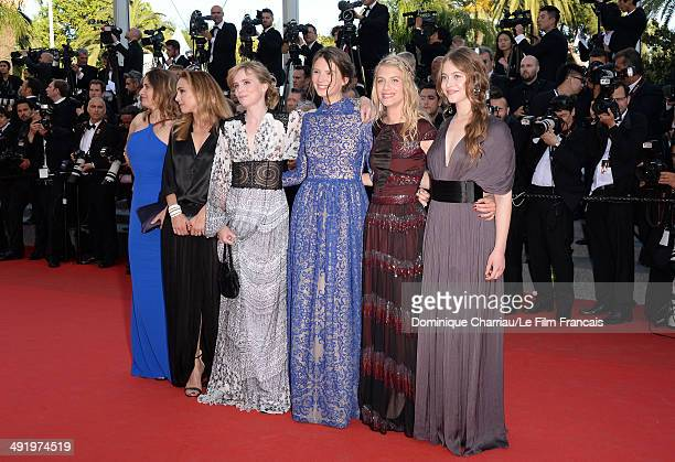 Carole Franc Claire Keim Isabelle Carre Josephine Jappy Melanie Laurent and Lou De Laage of 'Respire' attend 'The Homesman' Premiere at the 67th...