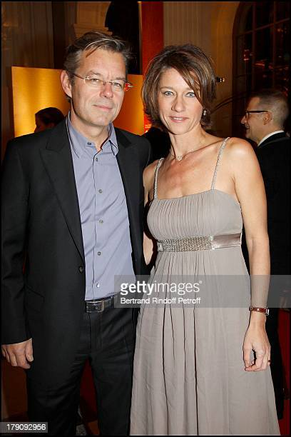 Carole Gaessler and husband at Fundraising Dinner For The Aides Foundation Followed By An Auction At The L'Ecole Des Beaux Arts In Paris