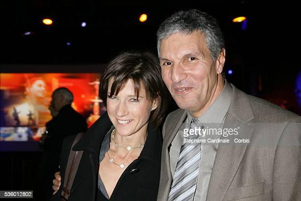 Carole Gaessler and Rachid Arhab at the France Television Foundation presentation
